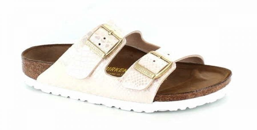 Birkenstock Arizona Lady Shiny Snake Cream